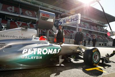 2011-02-18 GP Petronas Schmacher in Spain