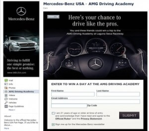 AMG Driving Academy Facebook Contest Win a Trip